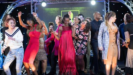 Models celebrating after a successful evening at Suffolk Fashion Show 2018 Picture: HEFFS PHOTOGRAP