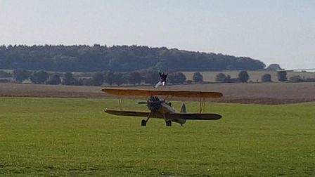 The wing-walk has raised more than �4,500 for charity Picture: SUPPLIED BY FAMILY