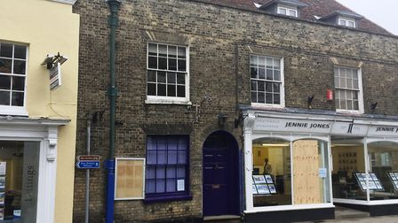 The Bistro in Saxmundham, with the blue door, has closed. Picture: ANDREW PAPWORTH