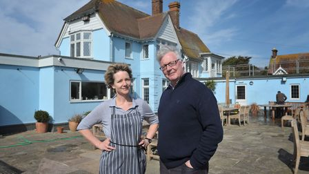 Sophie and Mark Dorber of The Anchor, Walberswick, fear the bridge closure will cost businesses dear