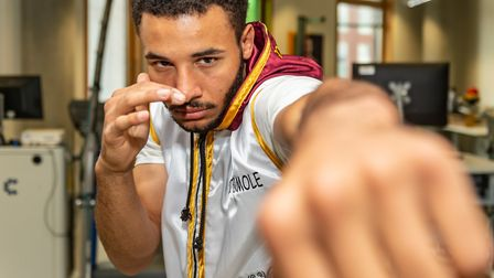 Boxer Reece Catermole is battling a degenerative hearing condition. Picture: PAVEL KRICKA
