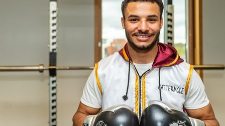 Boxer Reece Catermole at the University of Suffolk. Picture: PAVEL KRICKA