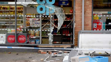 The aftermath of the ram raid in Kessingland. Picture: Nick Butcher
