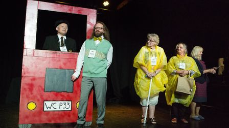 Wayne Witney, second from left; Pam Rivers, third from left, in A Zimmer of Hope Picture: MIKE KWASN