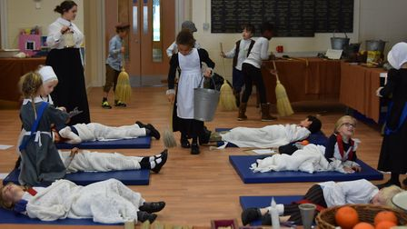 The school was transformed into a Victorian hospital as part of the workshop Picture: ORWELL PARK SC