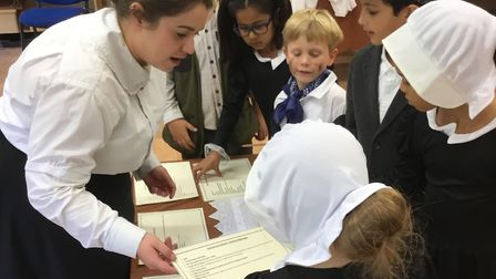 The children took part in the workshop to mark Florence Nightingale Day on October 4 Picture: ORWELL