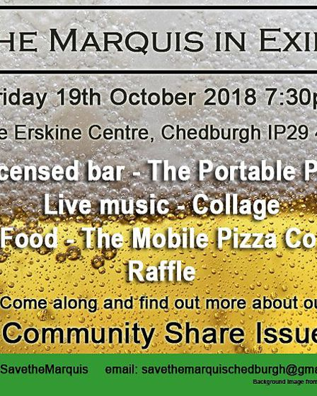 The Marquis in Exile event is being held on October 19 in Chedburgh Picture: CMCH