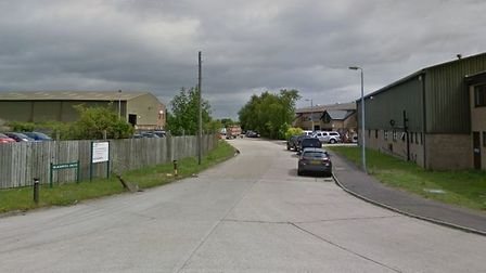 The fire happened at a warehouse in Blackwell Drive Picture: GOOGLE