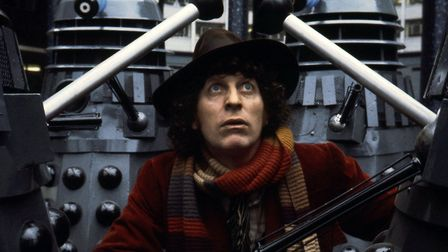 Tom Baker's fourth Doctor comes face to face with his deadliest foes. Photo: BBC