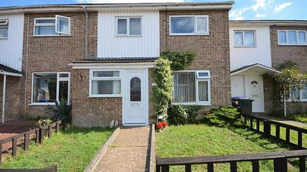This three-bedroom house in Hardy Close, Lowestoft, is available for £140,000. Picture: PAUL HUBBARD