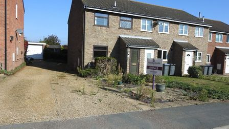 This two-bedroom semi-detached home in Leiston is on the market for £130,000. Picture: HAMILTON SMIT