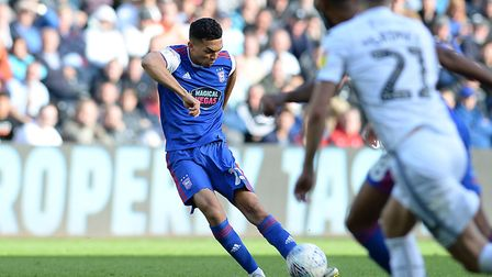 Andre Dozzell with a second half free-kick at Swansea. Picture Pagepix