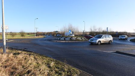 Two cars collided on the roads outside the village of Ixworth around 1.30pm on Sunday October 7. Pic