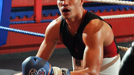 Anthony Ogogo at the Kickstop Gym in Norwich. Photo: Bill Smith