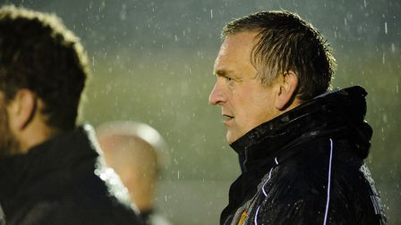 Mildehall Town manager, Dean Greygoose, looking forward to tonight's Suffolk Premier Cup tie. Pictu
