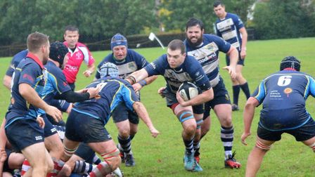 Chelmsford on the charge during their 42-5 win over Old Cooperians. Picture: ANNIE COULSON