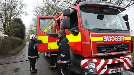 Three engines attended the scene on the dual carriageway Picture: SARAH LUCY BROWN