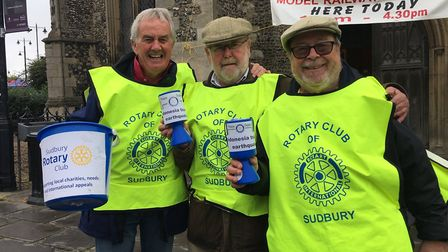 Rotary Club of Sudbury organised street collections for victims of the earthquake and tsunami in Ind