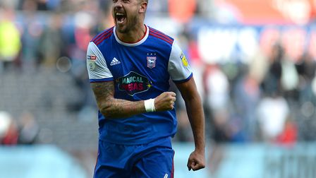 Fist-pumping for the first time this season - Ipswich Town captain Luke Chambers. Photo: Pagepix