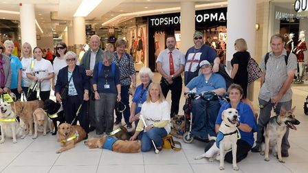 East and Mid-Suffolk Guide Dogs for the Blind are meeting in the Sailmakers Shopping Centre on Thurs