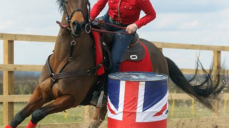 Jennifer Wittridge has retrained former racehorse Aspen to become very successful at barrel racing.