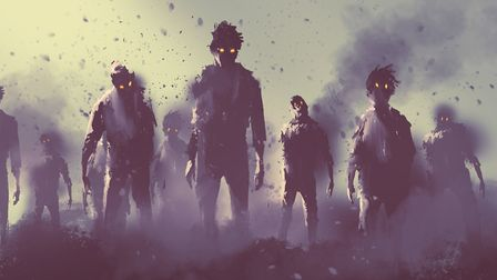 Zombie crowd walking at night. Picture: Getty Images/iStockphoto