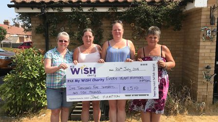 Pictured left to right with a cheque for £1,510 for the Every Heart Matters appeal are Nicky Canney,
