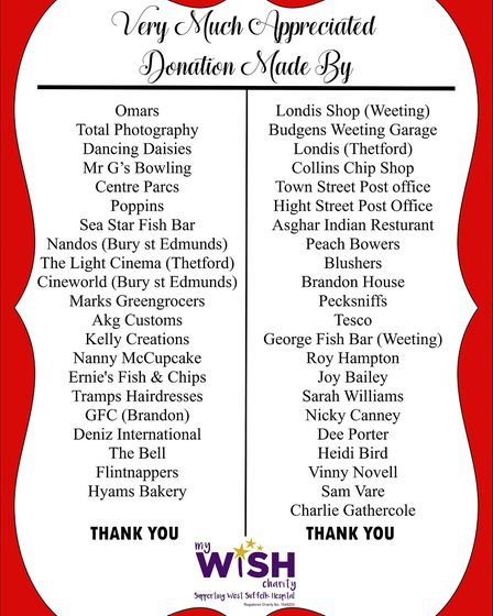 The donors to the events at Brandon. Picture: JANE HAMPTON