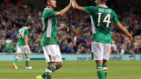Robbie Keane regularly played alongside recent Town loanee Jonathan Walters for the Republic of Irel
