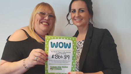Successful Macmillan coffee morning at Basepoint Business Centre, Ipswich raised at total of �864,89
