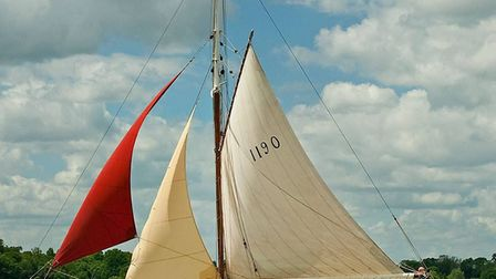 Historic racing yacht Leila under sail. Picture: Anglian News Agency