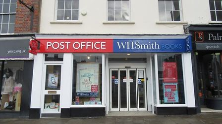 Sudbury post office, which is inside WHSmith in Market Hill Picture: GOOGLE MAPS