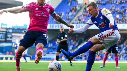 QPR captain Toni Leistner looks to block this Freddie Sears cross early in the QPR game. Picture: