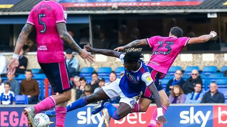 Trevoh Chalobah loses his footing in this battle with Pawel Wszolek. Picture: STEVE WALLER WW