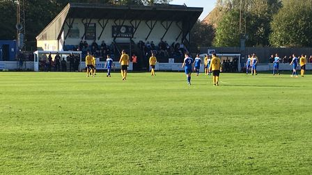 The setting at Ram Meadow, looking towards the main stand, during Saturday's Bostik North clash betw