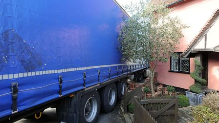 The wedged lorry from another angle Picture: PHIL MORLEY