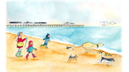 Worzel goes for a walk. Will you come, too? is available from Waterstones in Lowestoft as well as al