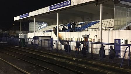 The main stand at Summers Lane, the home of Wingate & Finchley. Picture: CARL MARSTON