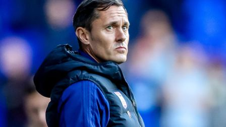 Paul Hurst watches on as Ipswich Town lost 2-0 at home to QPR on Saturday. Photo: Steve Waller