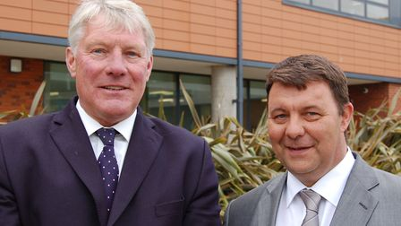 St Edmundsbury council leader John Griffiths and James Waters from Forest Heath agreed to merge in 2