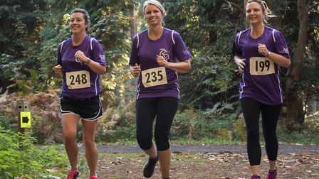 Fundraisers taking part in the first Honour Run Picture: SCDC