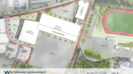 Map of the proposed multi-million pound development Picture: WEST SUFFOLK COUNCILS/PICK EVERARD