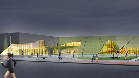 An artist's impression of the development by night Picture: WEST SUFFOLK COUNCILS/PICK EVERARD