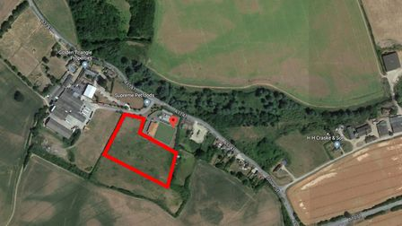 Planned site for a business park in Hadleigh Picture: GOOGLE MAPS
