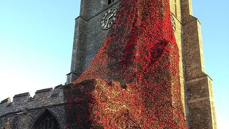 The stunning display at St Peter's in Sudbury Picture: SUDBURY TOWN COUNCIL