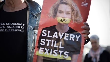 Walk for Freedom against modern-day slavery in Ipswich Picture: JOSHUA ANSTEY