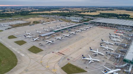 Aerial view of Stansted Picture: STANSTED AIRPORT
