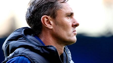 Town manager Paul Hurst pictured at the end of the match. Picture: STEVE WALLER WWW.STEPHENWA