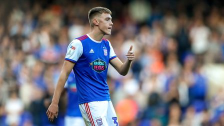 Jack Lankester on his debut in the Ipswich Town v QPR match. Picture: STEVE WALLER WWW.STEPHE