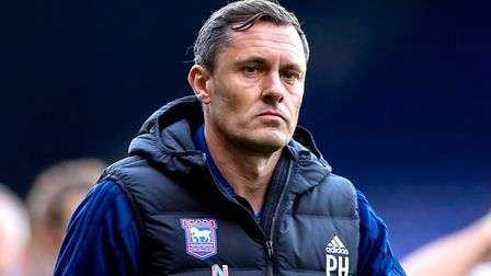 Town manager Paul Hurst walks towards the tunnel at full time. Picture: STEVE WALLER WWW.STEP